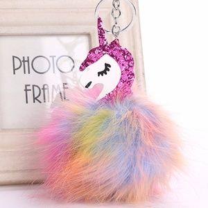 Accessories - NEW Cute Unicorn Pom Pom Handbag Charm / Keychain